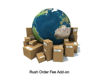 Rush Design Order Fee Add-on Custom Bobblehead, Personalized Bobblehead