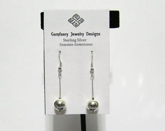 Sterling Silver Long Dangle Earrings...Handmade USA