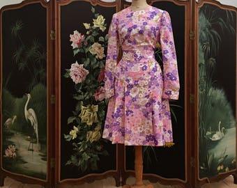 60's floral print dress
