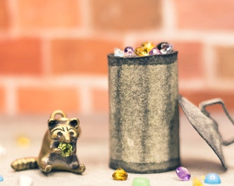 Greedy Raccoon Necklace in Solid Sterling Silver, Gold, or Bronze. The Most Adorably Selfish Charm You've Ever Seen!