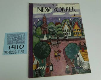 August 6,1938 New Yorker Magazine