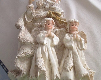 Father Christmas and Angels Figurine