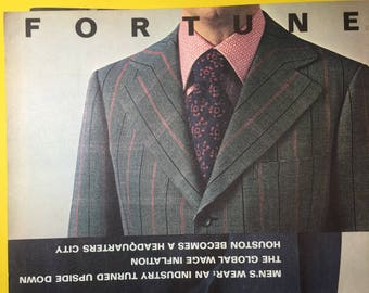 FORTUNE MAGAZINE February 1971 Men's Wear