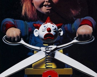 Spring Sales Event: CHILDS PLAY 2 Movie Poster Horror Chucky