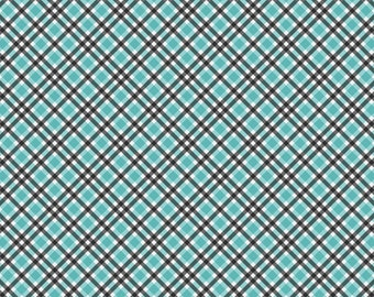 Gingham Patterned Printed Vinyl - Charcoal Black and Blue,  Permanent Glossy or Permanent Matte