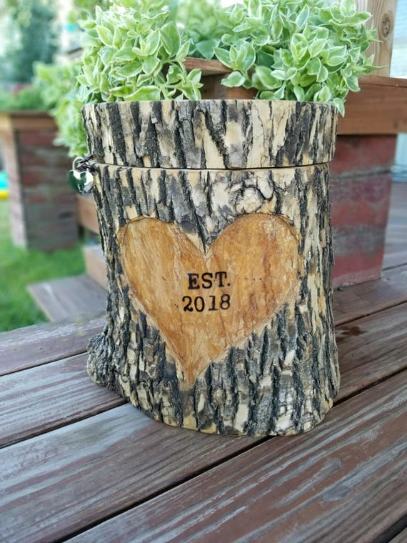 Log Card boxWedding reception card box money box Gift box