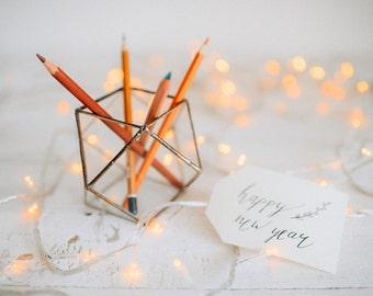 Pen holder -   Geometric Terrarium -Wedding ring box -  Geometric Hurricanes - Wedding table decor - Geometric Candle Holders Organizer