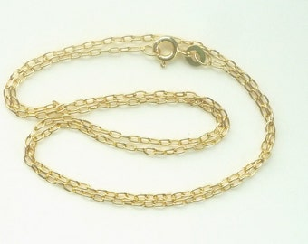 18 inches Vermeil  oval link chain