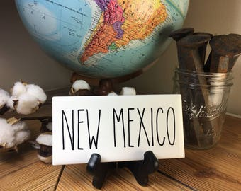 Rae Dunn Inspired NEW MEXICO State Sign Farmhouse Style Home Decor Rae Dunn Sign Farmhouse Sign Fixer Upper Decor Farm Decor