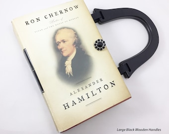 Custom Order for Lynnis - Hamilton Custom Book Purse - Custom Book Clutch - Custom Book Cover Handbag - Bookish Gift