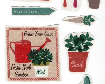 Set of 10 applique textile: vegetable garden 10 images for your customisations