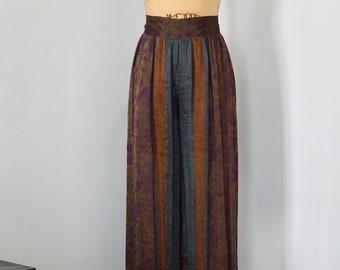 Xiao Studio High Waisted Ethnic Silk Pants
