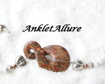Forever LOVE Ankle Bracelet INFINITY Anklet Agate Anklets for Women