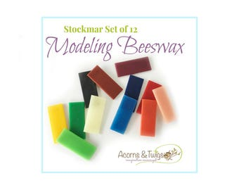 Stockmar Modeling Beeswax Set, Waldorf Homeschool Supply, Sensory Play, Art for Children, Moulding, Modeling Supply, Eco Friendly Art