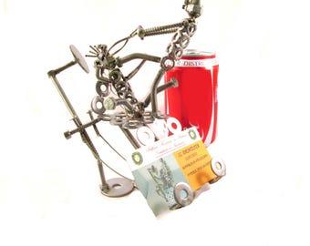 dentiste dentaires dentiste dents acciaioregalo sculpture artistique cadeau pour dentiste art dentiste metal art du recyclage recyclé