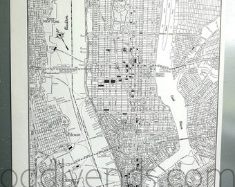 1941 Lower Manhattan New York Vintage City Atlas Map