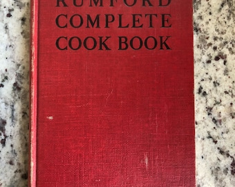 Rumford Complete Cookbook the 1948 Edition 43 a great item for a chef, cook, or collector in bound format a lovely retro piece includes ads
