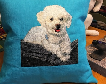 Special Custom Photo Embroidered Pillow
