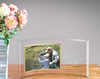 Personalized Loving Memory Glass Photo Frame - Picture Frame - 5x7 - Glass - Personalized Frame - Home Decor - Memorial Frame - GC1644 LVMEM