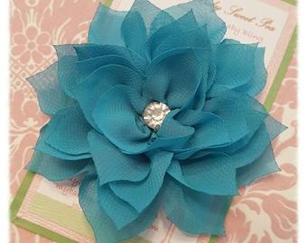 Hair clips - girl hair clips - flower hair clips - flower barrettes