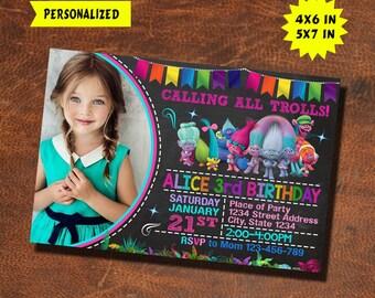 Trolls Invitation / Trolls Birthday / Trolls Invite / Trolls Party / Trolls Birthday Invitation / Trolls Party Invitation / Trolls