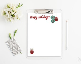 Christmas letter stationery Christmas ornament stationery Happy Holidays letterhead Holiday letterhead Instant Download Microsoft Word PDF