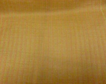 Organza silk stripe honey and orange