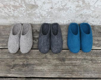 Mita Handmade Felt Slipper Mules with suede soles