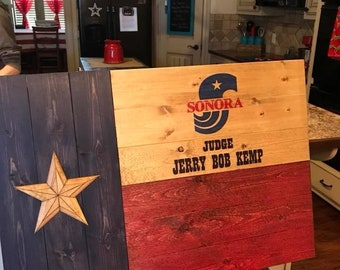 Custom Handcrafted Texas Flags