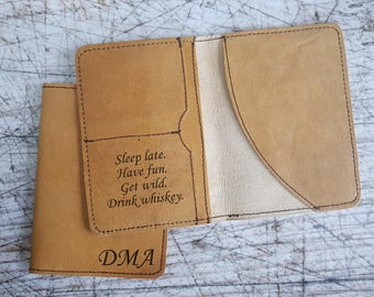 personalized passport cover, engraved passport holder, travel wallet, leather passport cover, personalized genuine leather passport cover