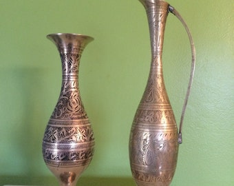 Lot #4 of Brass Vases from India