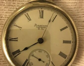 1889 Waltham P.S. Bartlett Pocket Watch 18S 15J