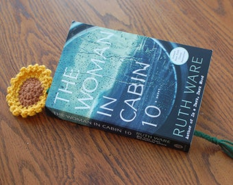 Crochet Sunflower Bookmark