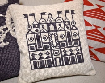 Cross Stitch Alexander Girard Pillow Cover