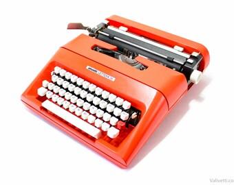 QWERTY - Typewriter Olivetti Lettera 35 - vintage typewriter - portable typewriter - working typewriter - orange typewriter - gift - writer