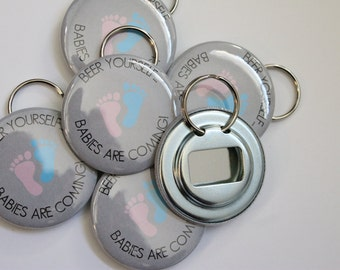 Baby Shower Keyrings ~ Baby keychain favors etsy
