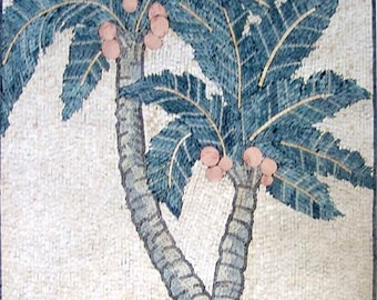 Palms Arch Shaped Mosaic Mural