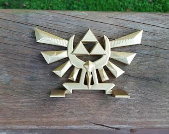 Golden Zelda Inspired Hyrule Crest Fan Art