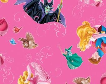 Disney's Sleeping Beauty Friends Fabric From Springs Creative