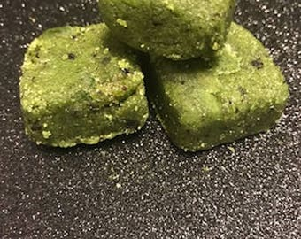 Organic GreenTree Green Tea and Coffee Sugar Scrub Cubes