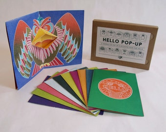 12 Pop-up Cards Animals to make by yourself // HELLO Pop-up // DIY // Creative stationery, Birthday Card, Greetings Card, Invitation Card