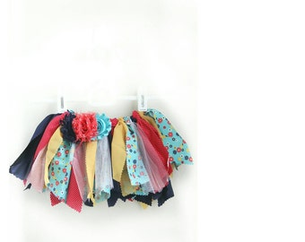 Persnickety | Size NB-3M | Baby Girl Fabric Tutu | OOAK | Ready To Ship