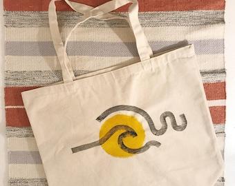 original painted tote bag