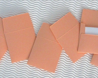 36+ teeny tiny envelope note card sets handmade just peachy orange mini miniature square party favors weddings stationery guest book