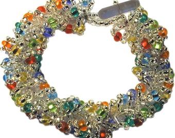 Fiesta Bead Crochet Chain Stitch Bracelet Kit by Ann Benson
