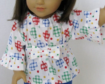 Gingham and Dots! Peasant Top and Capri Pants (PL11A)