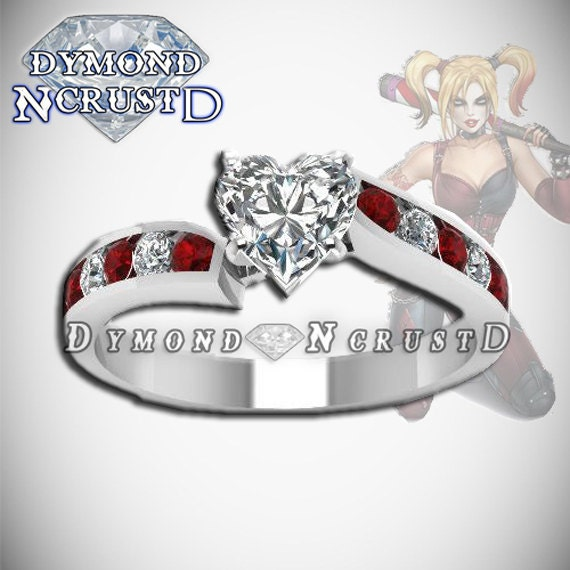 Harley Quinn Inspired Mad Love Engagement Ring