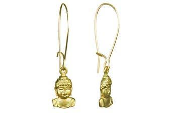 Dainty Buddha Gold Kidney Earrings