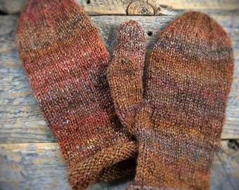 Womens wool mittens - one of a kind