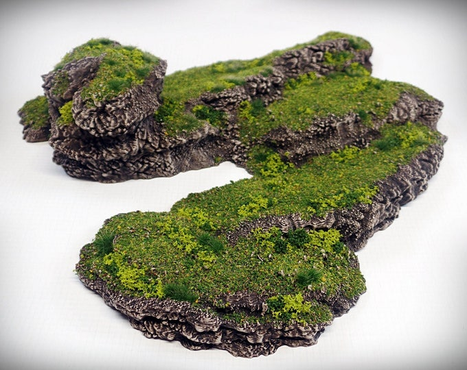 Wargame Terrain - Stepped Spiral - Outcropping – Miniature Wargaming & RPG outcropping terrain - 9.5x8x2 inches